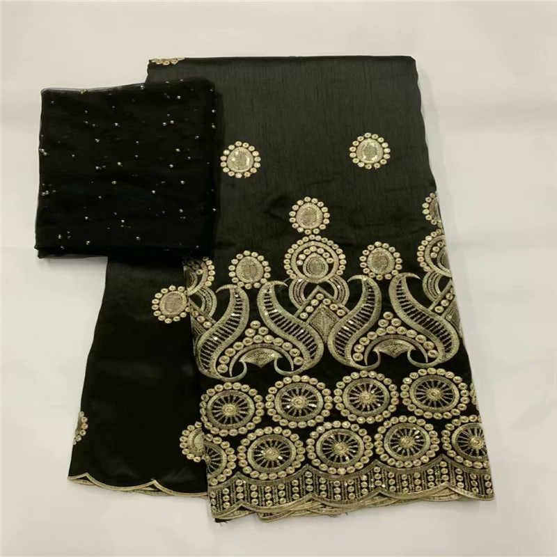 Высококачественная африканская кружевная ткань с блестками, черные золотые кружева для индийских женщин, свадебное платье Шитье, нигерийский Джордж