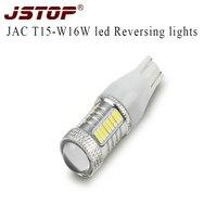 JAC Luz del Revés led 12VAC JSTOP alta calidad de Vuelta de la lámpara 6000 k coche 4 W de canbus T15 w16w revertir 4014SMD lámparas bombillas led Externo