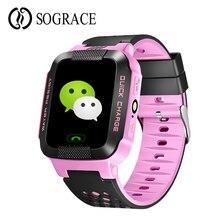 Relógio Inteligente Anti-lost Segurança das crianças SOS GPS Relógio Do Telefone Do Cartão Sim de 1.44 polegadas Touch Screen Botão Smartwatch o melhor Presente Para As Crianças