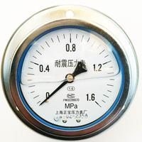 YN100Z 0 ~ 1.6Mpa banda borda sísmica axial manômetro manômetro medidor de pressão hidráulica Xangai Zhengbao| | |  -