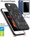 Atacado 10 pçs/lote cocose caso capa para o iphone 7 3d esculpido dragão capa de silicone para o iphone 7 plus resistência queda