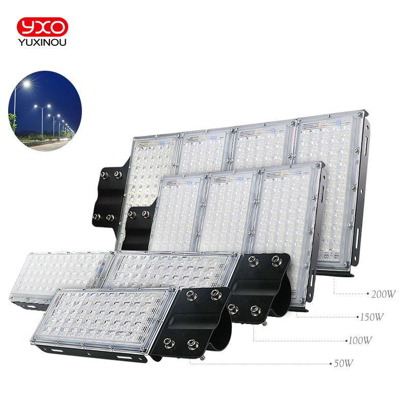 50W 100W 150W 200W Led Street Light Waterproof IP65 AC165 265V Led Streetlight Road Garden Lamp Cold White Spotlights Wall Lamp