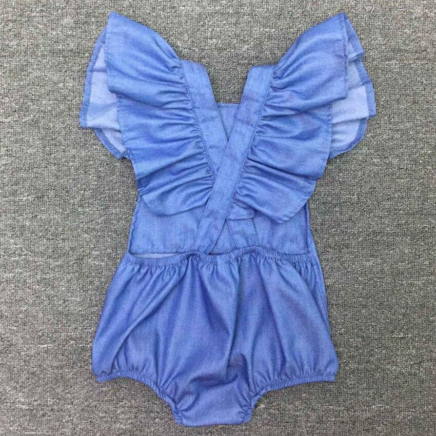 b99573c6d COSPOT Baby Girls Summer Romper Girl Cotton Ruffle Sleeve Jumpsuit ...