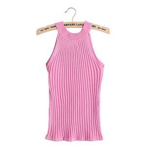 Image 2 - 2017 hot sale Women Summer Camisole Knitted Halter Off Shoulder O neck Vest Slim Tank Tops