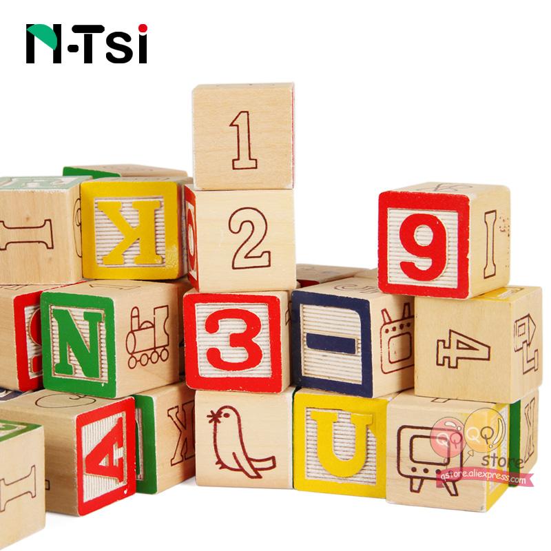 N Tsi Deluxe Wooden Alphabet Block Set Learning Instructive Educational  Toys For Children With Storage Kids Christmas Gift Pouch In Blocks From  Toys ...
