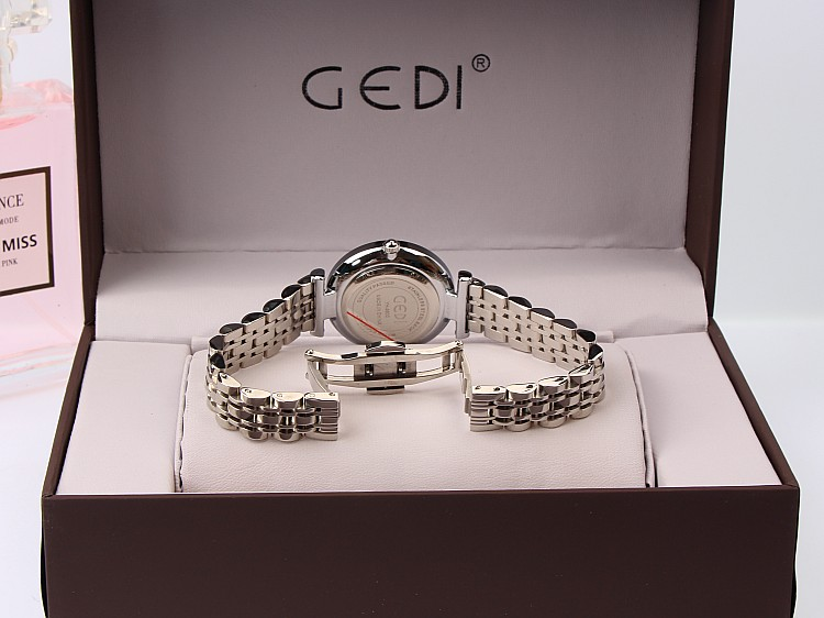 GEDI Mode Rose Goud Zilver Vrouwen Horloges Top Luxe Merk Dames - Dameshorloges - Foto 6