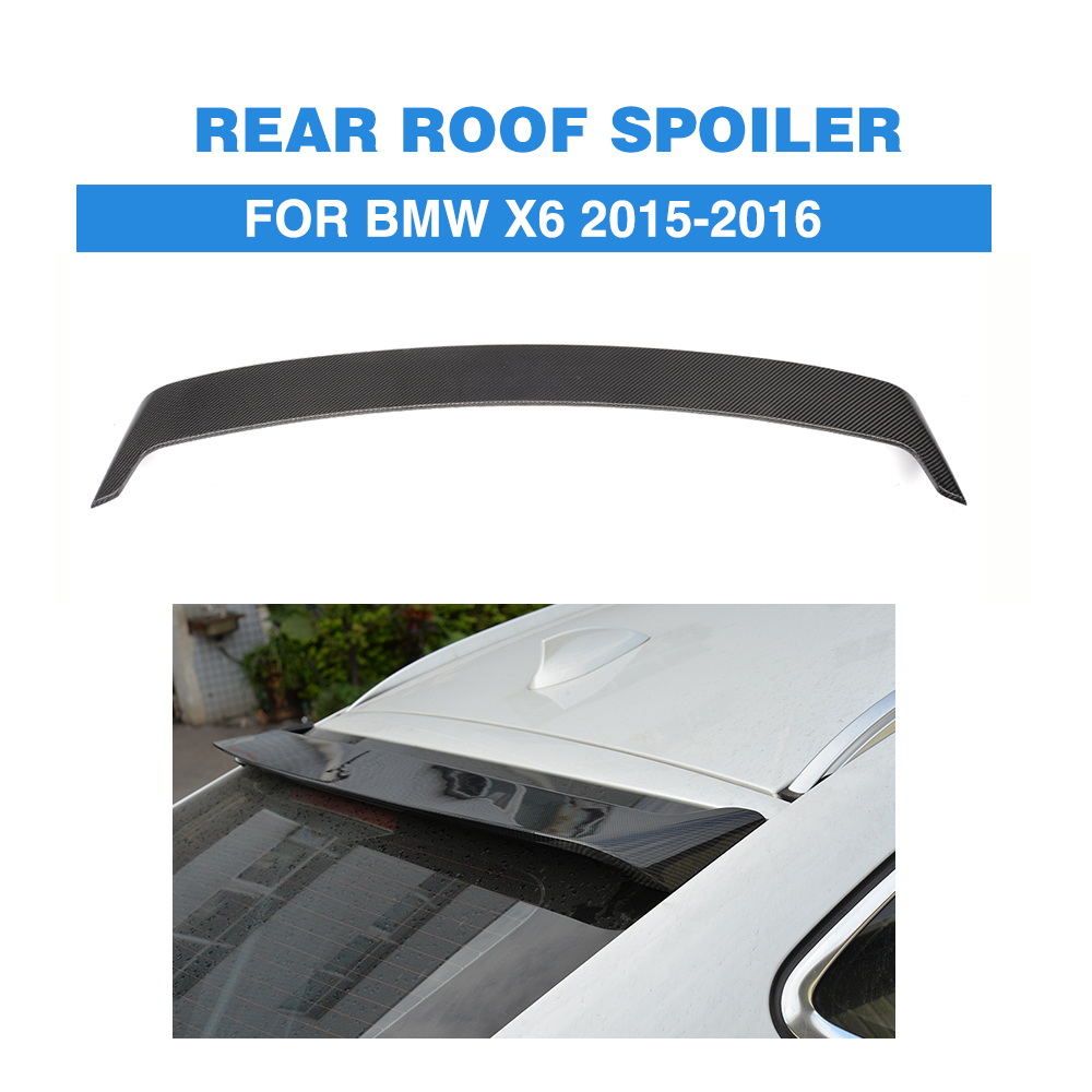 Carbon fiber Rear Spoiler lip wing For BMW X6 F16 2015-2016 H P M Style Rear Window roof Spoiler Car Tuning Parts for bmw x6 f16 spoiler carbon fiber material 2014 2015 2016 up x6 carbon spoiler m performance style carbon wings car styling
