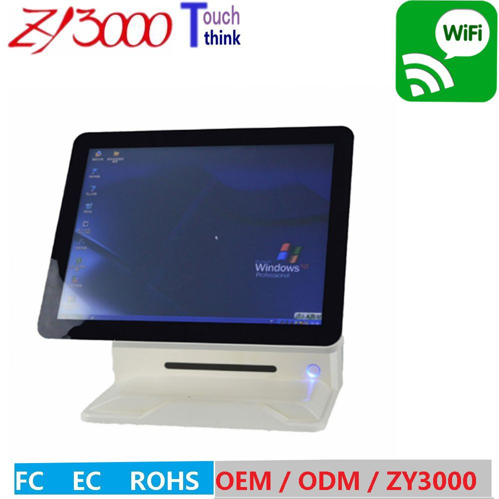 Factory Price 15 windows All In One Touch Screen POS have english VFD Customer Display pos system With MSR card reader 15 inch tft lcd touch screen monitor core i3 touch screen pos all in one restaurant epos system with msr customer display