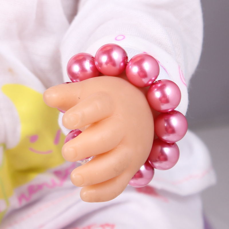 2017 New Doll Accessories Hot Pink Pearl Bracelet Fit For Americal Girls 43cm Doll Baby Born