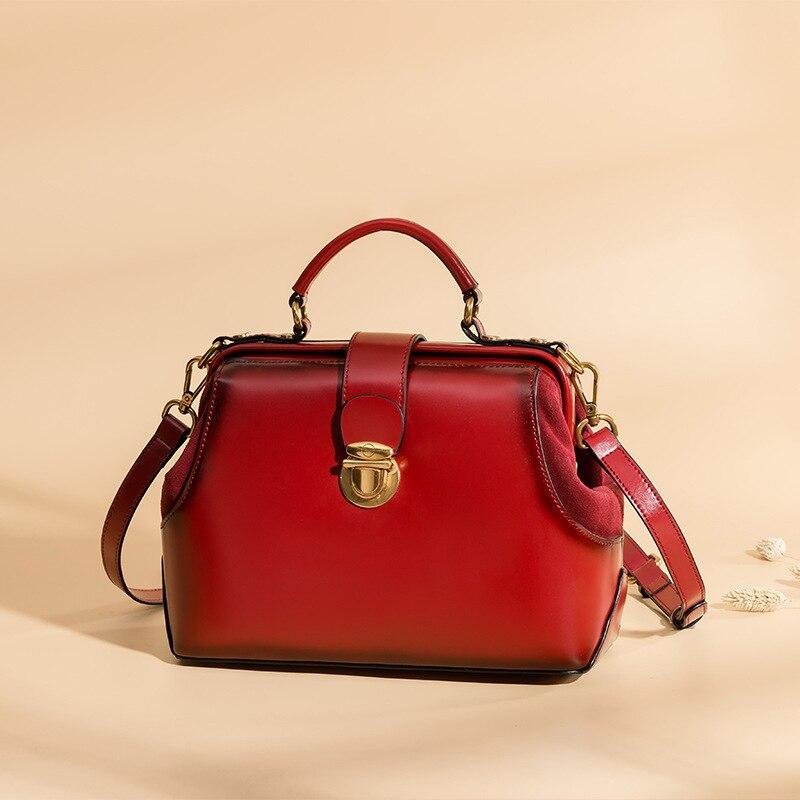 Handtaschen Mm Schulter Inklusive Mode Neue 100 Tasche 2018 Top Design Beiläufige Leder Kleine Versand Frauen Echtem Kuh UwIaAqx8