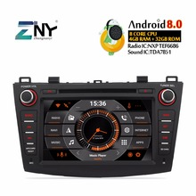 Android 8.0 7.1 Auto Radio 2 Din Car Stereo DVD For Mazda 3 2009 2010 2011 2012 2013 7″ HD Headunit GPS Navigation System