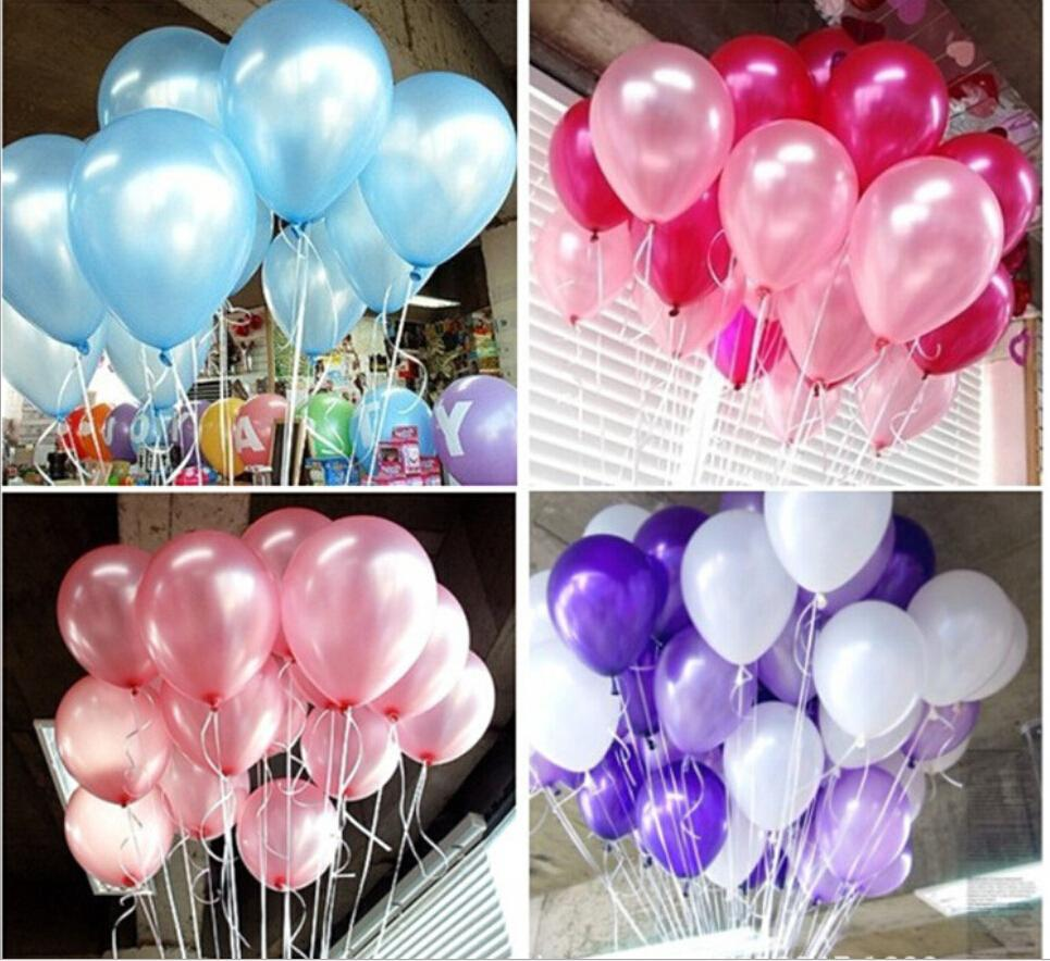 barato unids uug forma redonda decorar fiesta de ltex perla globos