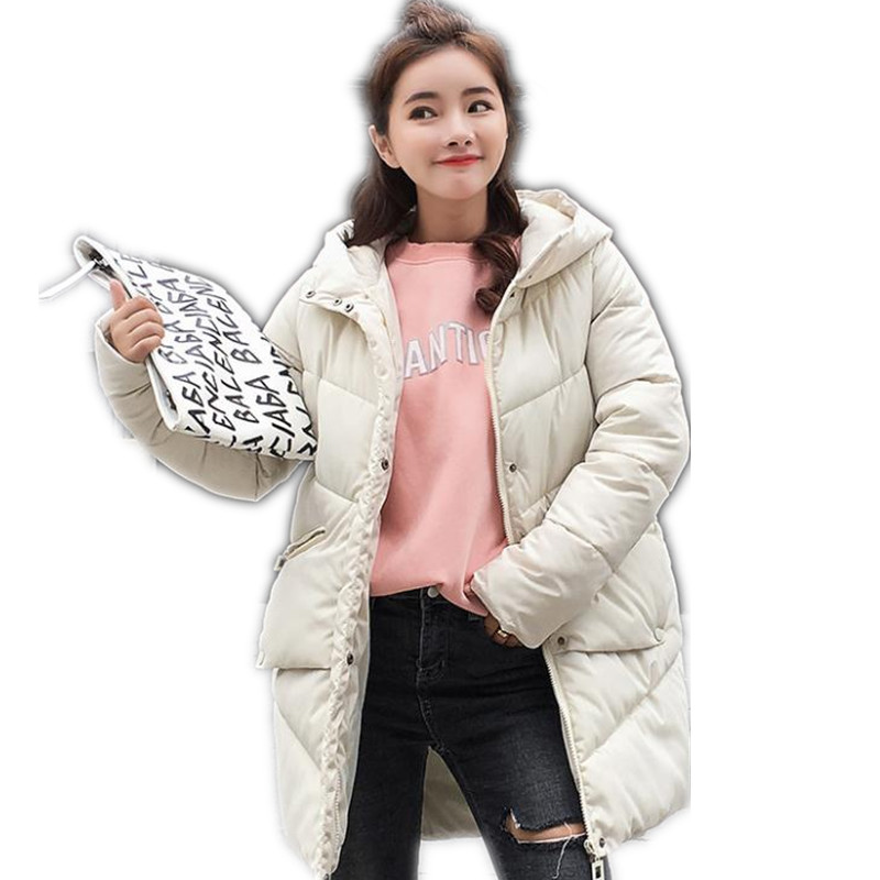 Parka   Women Winter Jacket Women Coats Hooded Coats Female   Parka   Thick Cotton Padded Lining Winter Female Coats 2018 New CQ293