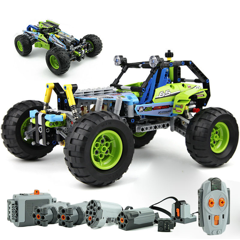 2019 NEW 494pcs Technic City Off-roader Power Drive Version Racing Truck Car Compatible With 42037 Building Block Bricks Toys
