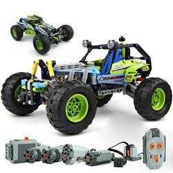 2019 NUOVO 494pcs Technic Città fuoristrada di unità di Alimentazione Versione Camion Da Corsa Auto Compatibile con 42037 Building Block giocattoli dei mattoni