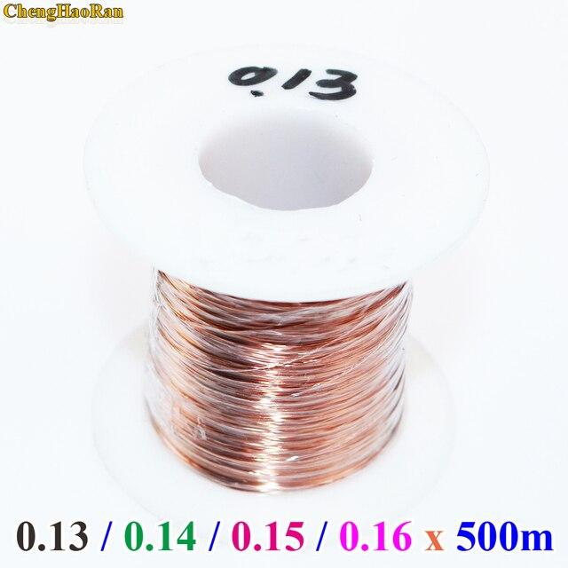 Chenghaoran 0.13 0.14 0.15 0.16mm 500 메터/개 QA 1 155 새로운 폴리 우레탄 에나멜 와이어 구리 와이어 기본 색상