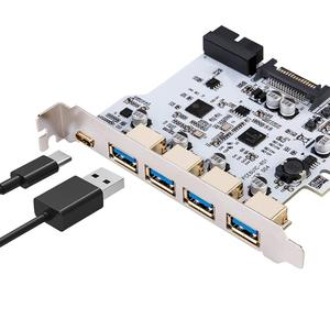 Image 1 - Ekleyin Kart USB 3.0 PCI E Tip C Genişleme Kartı PCI Express PCI E USB 3.0 Denetleyici 5 Port + 1 Port USB 3.1 PCI E Kart Adaptörü