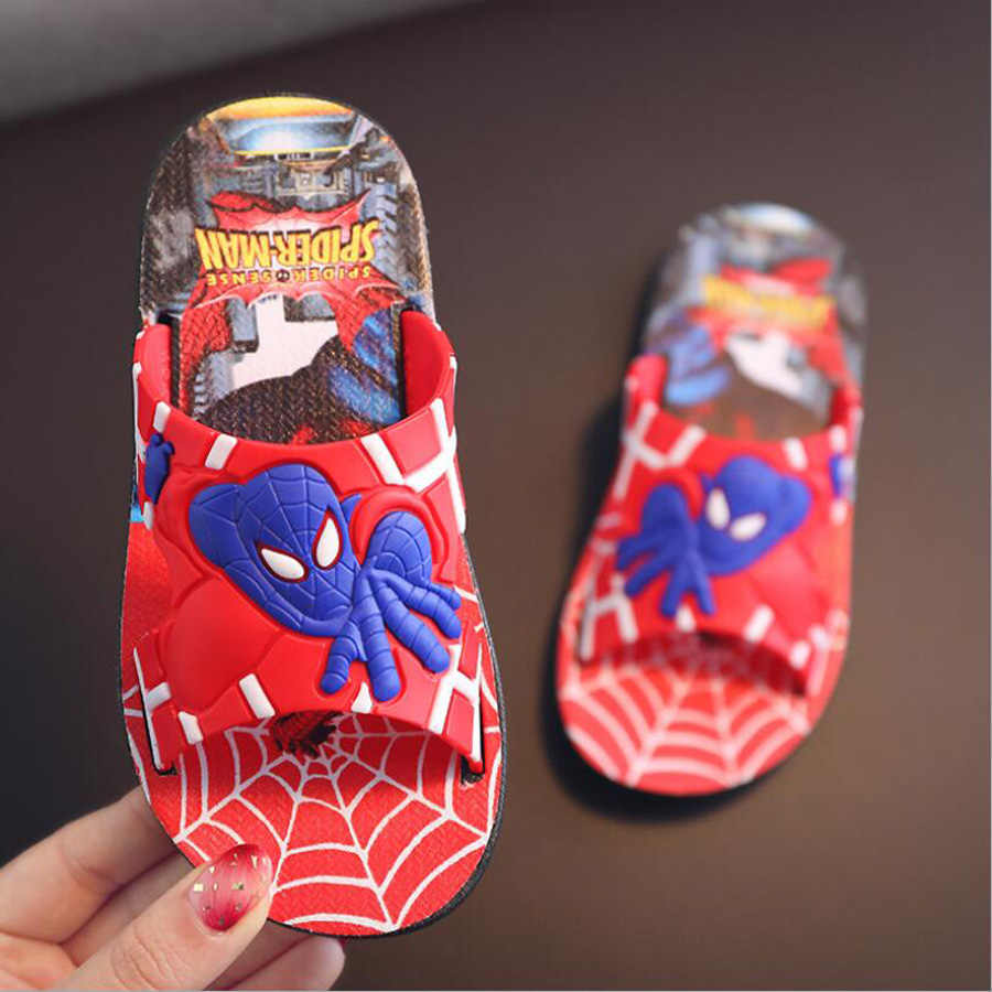 e9409d720 ... 2019 Boys Slippers Spider man Boys Sandals Children Beachwear Shoes  Cartoon Kids Slippers home Shoes Spiderman ...
