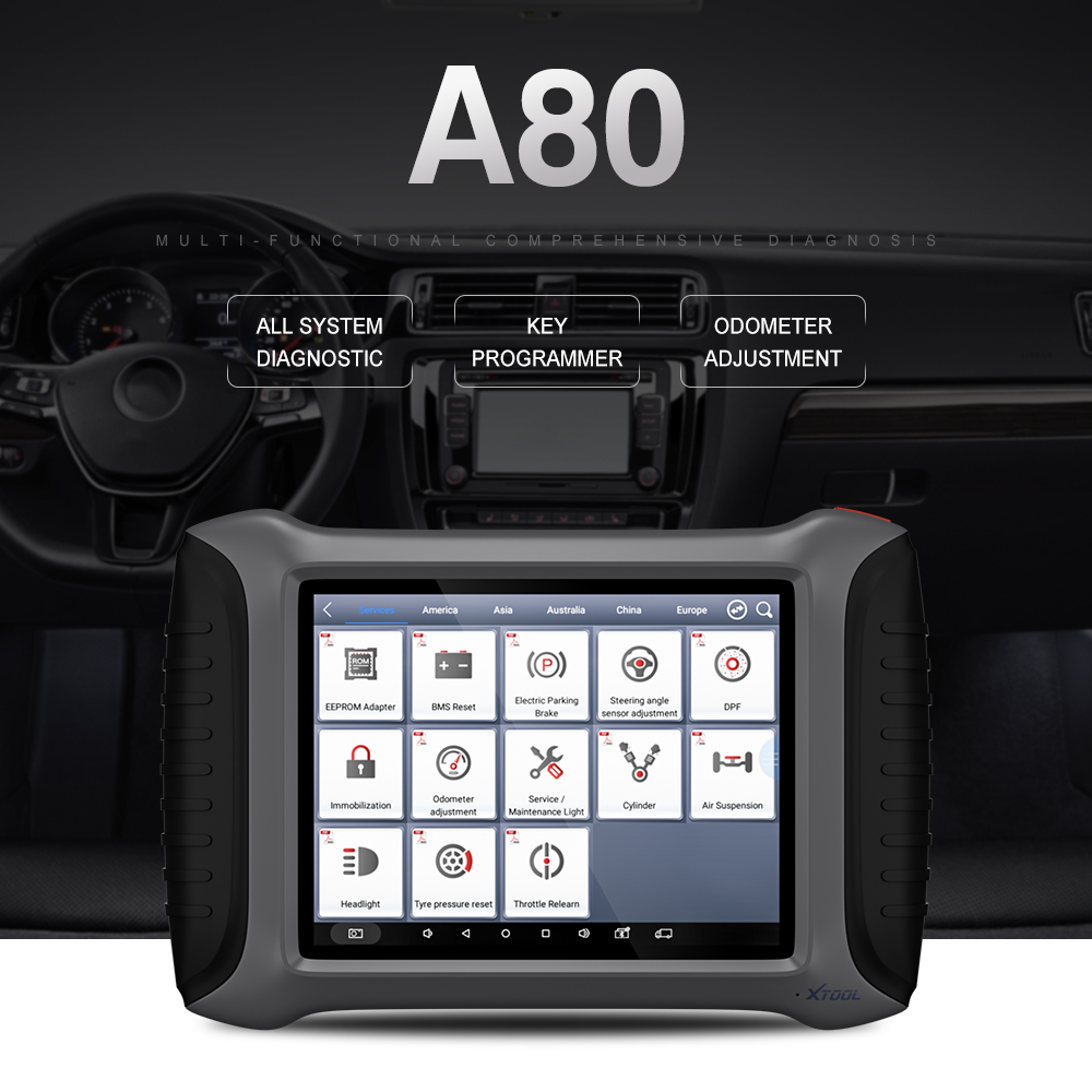 OBD2 100 Original XTOOL A80 With Bluetooth WiFi Full System Car OBDII Car Repair Tool Vehicle
