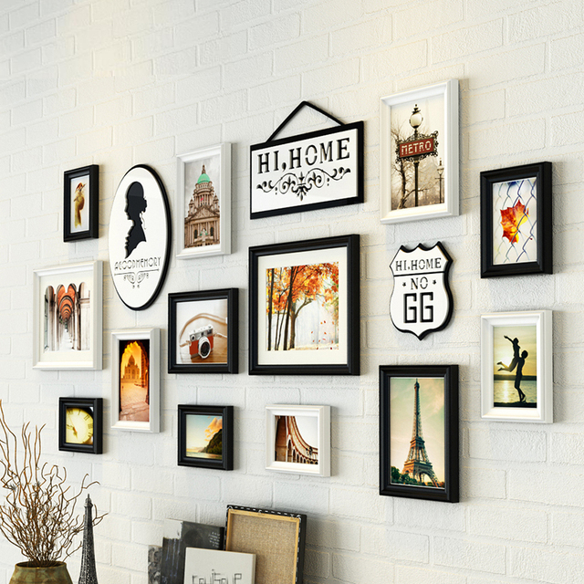 Free Shipping 13PCS Wall Picture Frames, Home Decoration Wedding ...