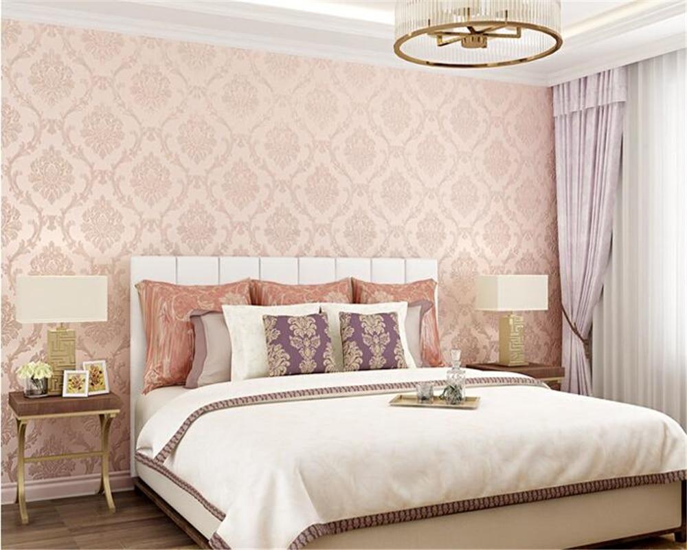 Beibehangヨーロピアンスタイル細かい粒度不織布3d壁紙服店美容サロン
