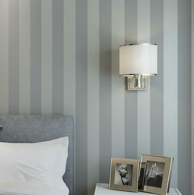 56 Sqf 10M Roll Modern Simple Style Grey Strips Striped Wallpaper Livingroom Bedroom Wall