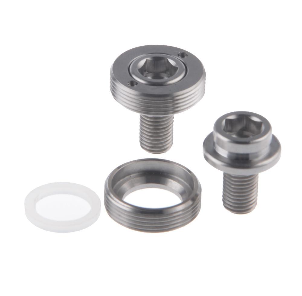1Pair/2Pcs Titanium Ti Bicycle Screw M8x15mm 1.0mm Pitch Chain <font><b>Wheel</b></font> Crank Bolt Extractor
