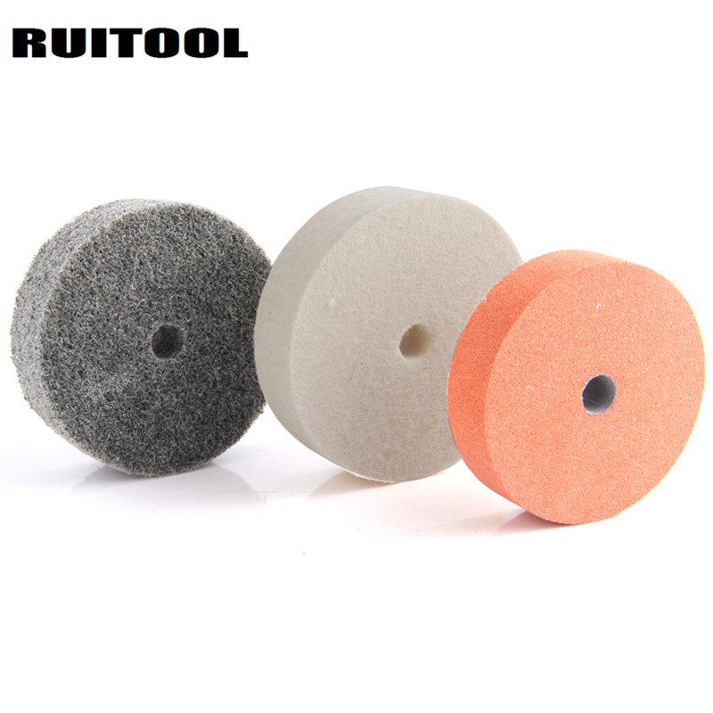 3inch Grinding Wheel Polishing Pad Abrasive Disc Stone Nylon Wool Wheel For Metal Ceramic Bench Grinder Rotary Tool 3pcs
