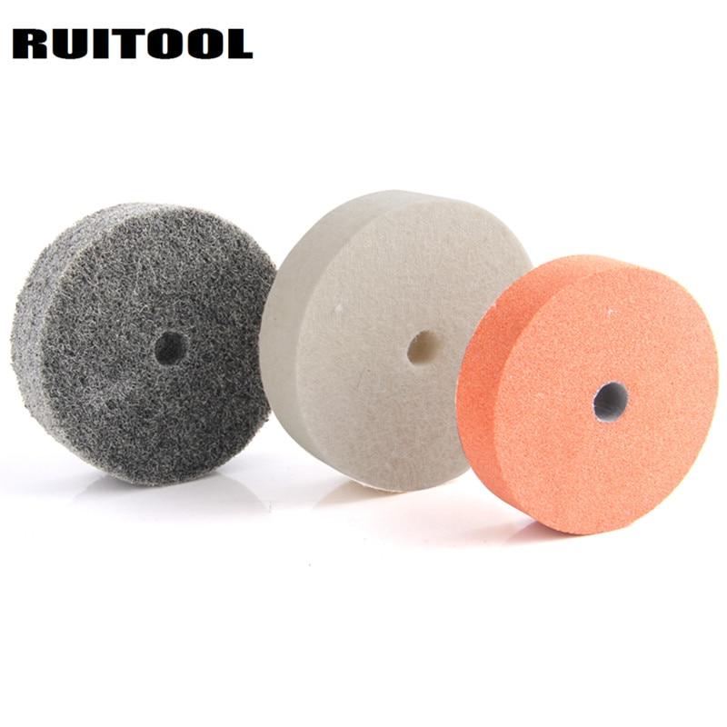 3inch Grinding Wheel Polishing Pad Abrasive Disc Stone Nylon Wool Wheel For Metal Ceramic Bench Grinder Rotary Tool 3pcs