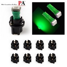 PA LEVOU 10 PCS x T5 1SMD 5050 DIODO EMISSOR de luz de 73 74 Painel de LED painel Lâmpada LED Verde 12 V + T5 Torção Bloqueio Soquete Verde