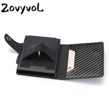 ZOVYVOL 2019  RFID Blocking Men and Women Card Case New Holder Carbon Fiber PU Leather Coin WalletTravel Drop-shipping