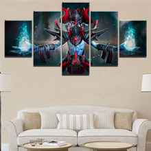 Home Decorations Wall Decor DOTA 2 Game Modern 5 Pieces Paintings on Canvas Art for For Living Room