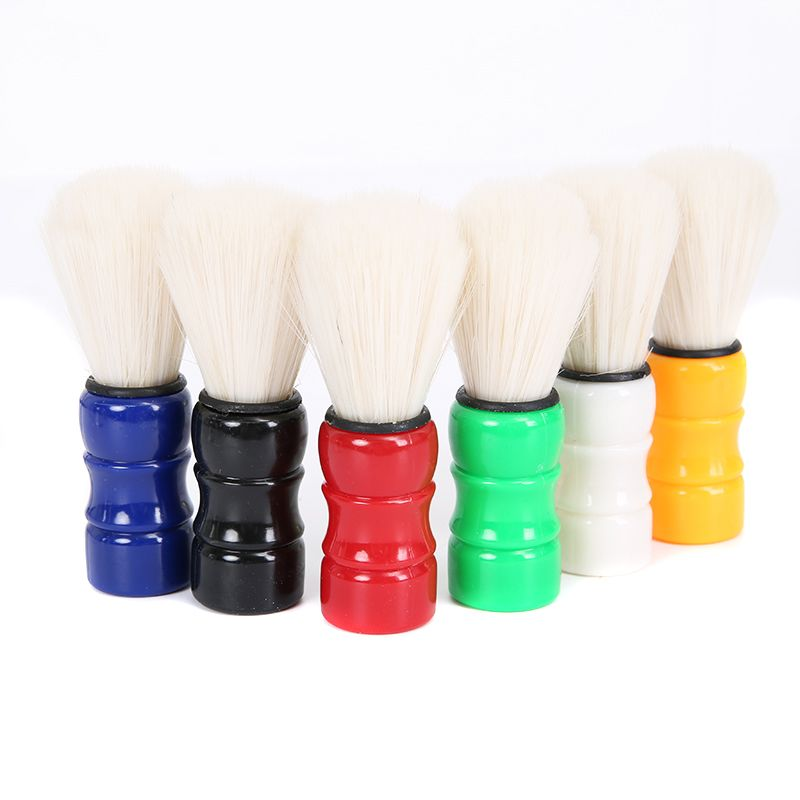 Mayitr Men's Barber Shaving Brush Wood Handle Beard Mustache Cleaner Barber Shaving Brushes Random Colors