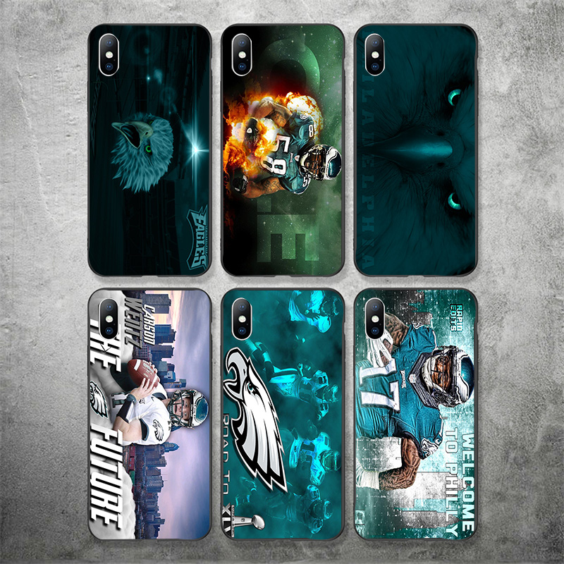 Yinuoda Philadelphia Eagles Phone Case NFL Carson Wentz For iPhone DIY Picture Soft TPU Cover X XR XS MAX 7 8 7plus 6 6S 5S 5 SE