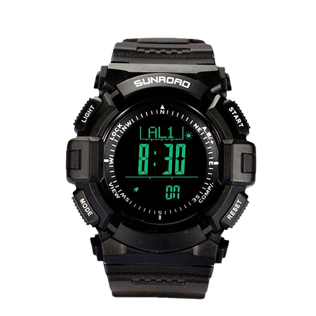 SUNROAD Многофункциональный Открытый спортивные часы с компасом Пеший Туризм Для мужчин цифровые электронные часы хронограф Наручные часы