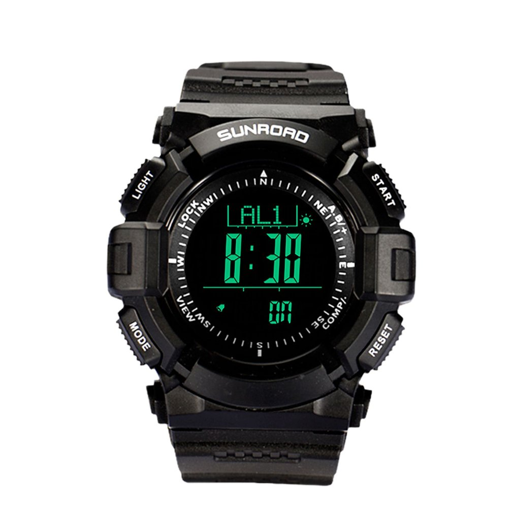 SUNROAD Multifunction Outdoor Sports Compass Watches Hiking Men's Digital Electronic Watches Chronograph Wristwatches