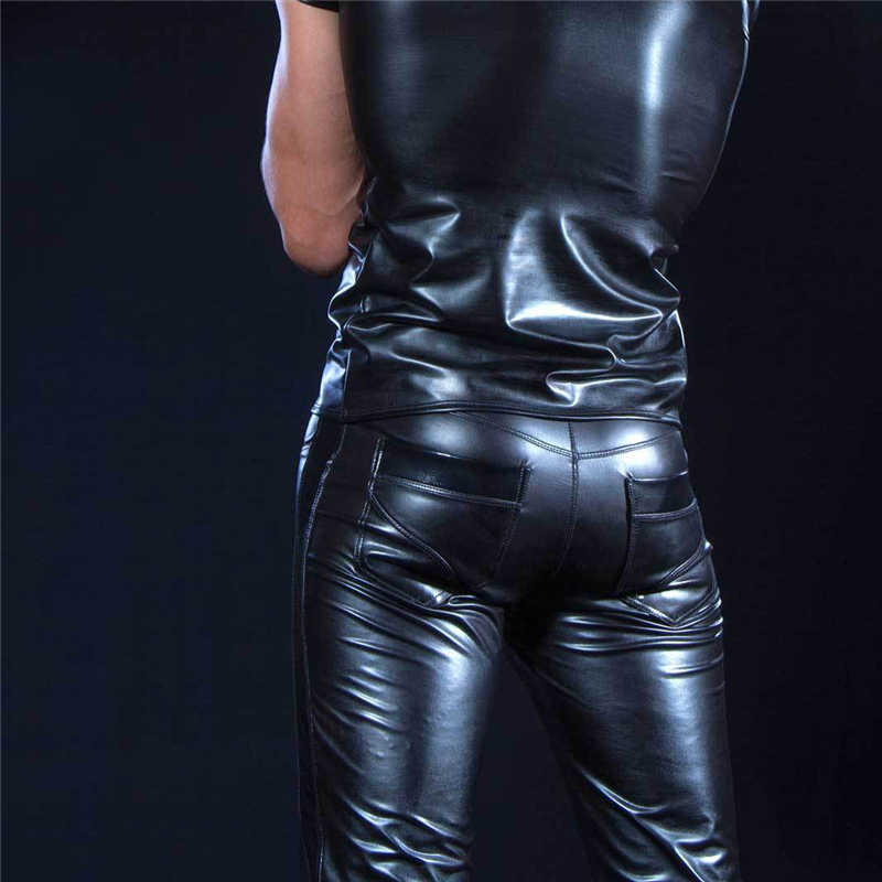 6e9a155af2a73 ... Sexy Lingerie Plus Size Exotic Pants PU Latex Catsuit Zipper Stage  Clubwear PVC Exotic Pants Gay ...