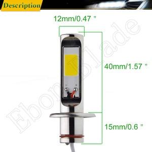 Image 2 - 2Pcs H1 Auto LED Fog Lights High Power COB 80W Yellow Golden 3000K Daytime Running Light DRL Driving Lamp Bulb  12V 24V 30V AC