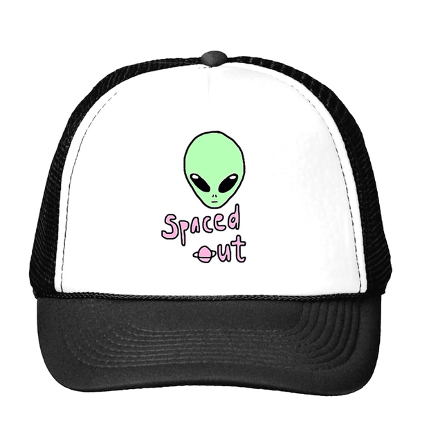 alien spaced out Print Baseball Cap Trucker Hat For Women Men Unisex Mesh  Adjustable Size Tumblr Drop Ship M-123 f4885cdb9cd9