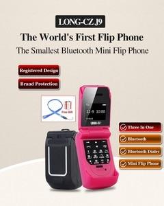 Image 2 - LONG CZ J9 Mini Bluetooth Lật Điện Thoại 2G Đa Ngôn Ngữ Thay Đổi Giọng Nói Trình Quay Số Bluetooth Tai Nghe 300MAh 0.66 Inch em Mini Điện Thoại