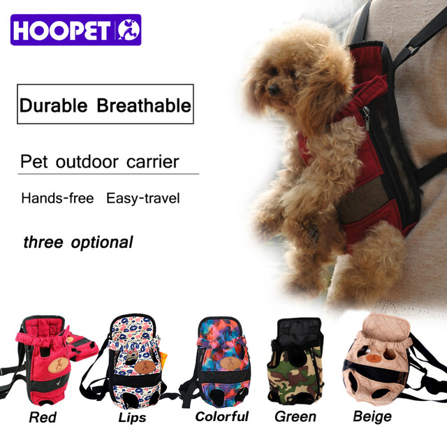 HOOPET Dog carrier fashion red color Travel dog backpack breathable pet bags shoulder pet puppy carrier 1
