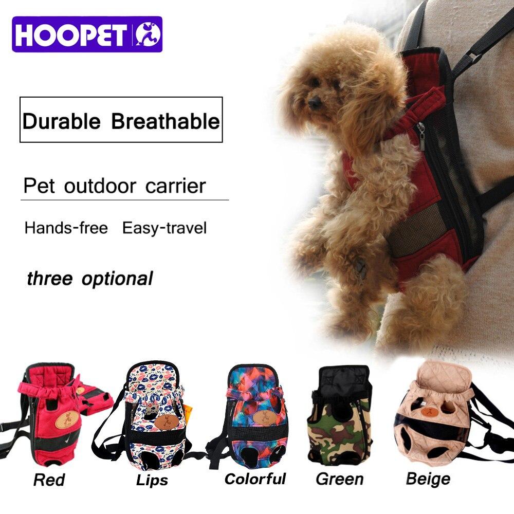 HOOPET Hund träger mode rot Reisen hund rucksack atmungs pet taschen schulter haustier träger