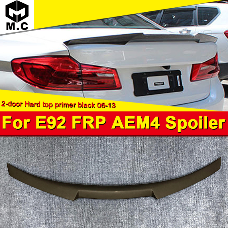 For BMW E92 M4 style high kick FRP Unpainted Trunk spoiler wing 3 series 2-door 320i 325i Hard top rear 2006-13