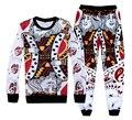 Hip hop Hoodies&pants funny Playing cards suits 3d casual pants+sweatshirt 2 piece sets Men/Women fashion sweatpants