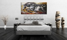 High Skills Artist 100%Hand-painted Abstract Bull Oil Painting on Canvas Handmade Bull Knife Painting for Office Home Decoration