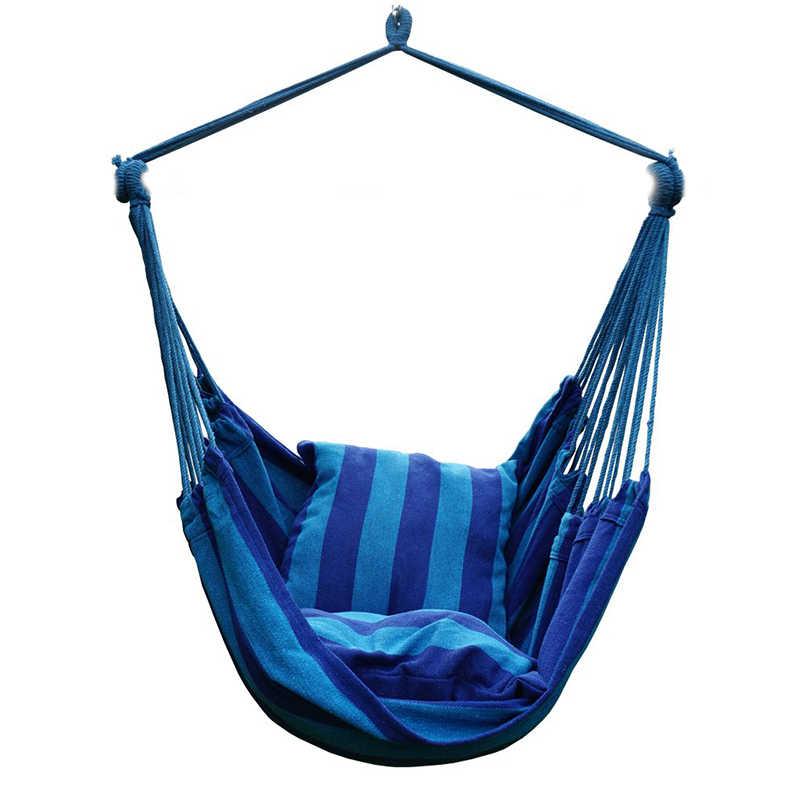 2019 nowe wielofunkcyjne przenośne krzesło obrotowe hamak wiszące liny na fotel z 2 poduszkami na kryty ogrodowa gorąca sprzedaż