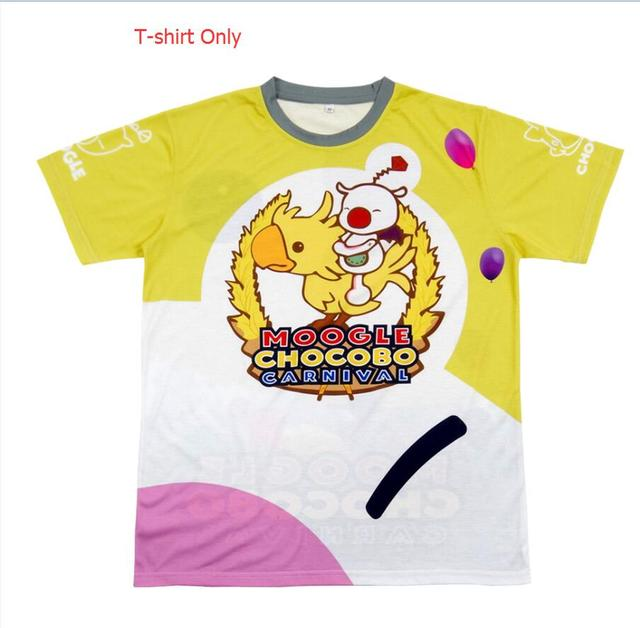 US $18.26 13% OFF|Moogle Chocobo T Shirt Final Fantasy XV Noctis Lucis Caelum Cosplay Costumes Carnival Shirt FF15 Choco Mog Tee Kid Adult|final