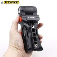 Etook ET350 Anti theft Folding Lock 750mm Bicycle Flip Alloy Security Level 3 High Quality
