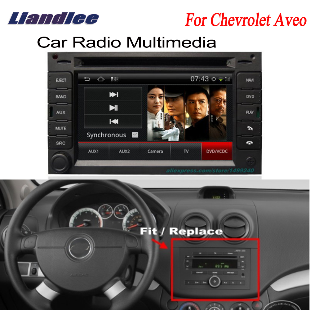цена Liandlee 2 din Car GPS For Chevrolet Aveo 2002~2006 Android Radio Navi Navigation Maps DVD player HD Screen OBD2 Camera TV