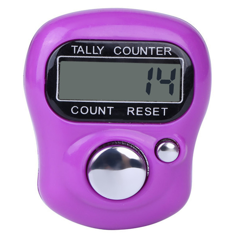Digital LCD Electronic Golf Finger Hand Ring Knitting Row Tally Counter TALLY Pedometer H0T0 round base black reset knob 4 digit silver tone hand tally counter w finger ring